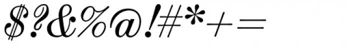 Scotch Micro Italic Font OTHER CHARS