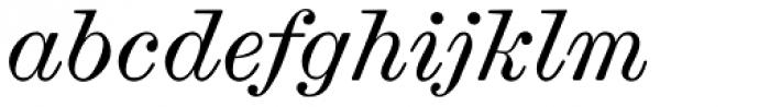 Scotch Micro Italic Font LOWERCASE
