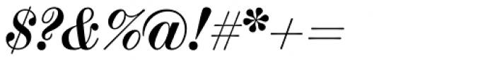 Scotch Modern Bold Italic Font OTHER CHARS
