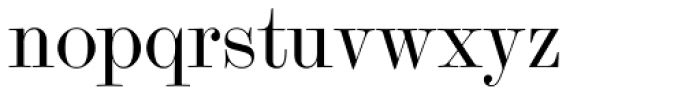 Scotch Modern Display Font LOWERCASE