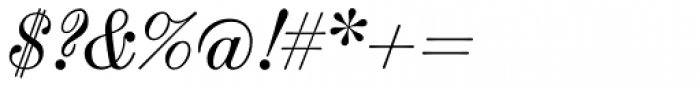 Scotch Modern Italic Font OTHER CHARS
