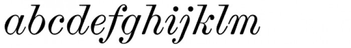 Scotch Modern Italic Font LOWERCASE