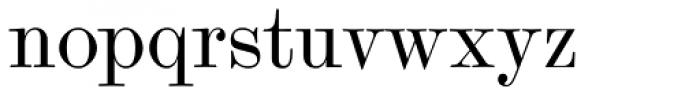 Scotch Modern Font LOWERCASE