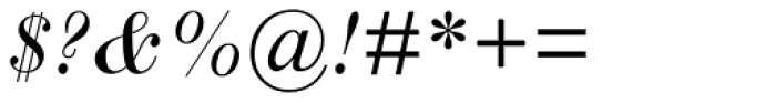 Scotch Roman MT Std Italic Font OTHER CHARS
