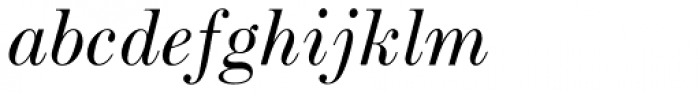 Scotch Roman MT Std Italic Font LOWERCASE