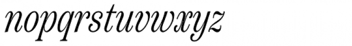 Scotch Text Compressed Light Italic Font LOWERCASE