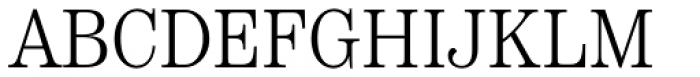 Scotch Text Condensed Light Font UPPERCASE