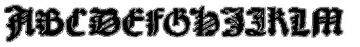 Scoto Koberger Fraktur N11 Lined Font UPPERCASE