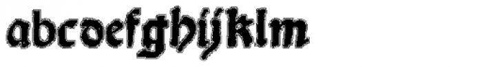 Scoto Koberger Fraktur N11 Lined Font LOWERCASE