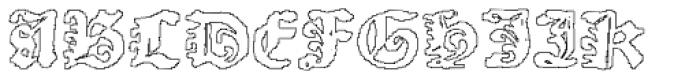 Scoto Koberger Fraktur N9 Outline Font UPPERCASE