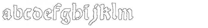 Scoto Koberger Fraktur N9 Outline Font LOWERCASE