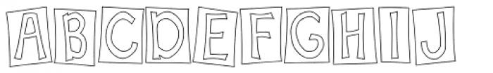 Scrapbook Font UPPERCASE