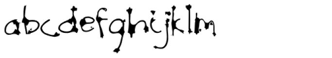 Scratch SCF Font LOWERCASE