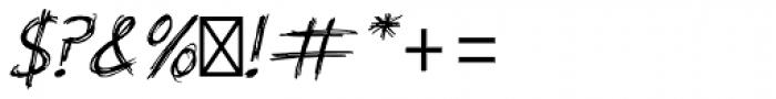 Scratch Std Font OTHER CHARS