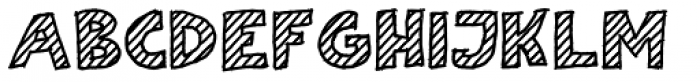 Scratch That (Striped 1) Bold Font UPPERCASE