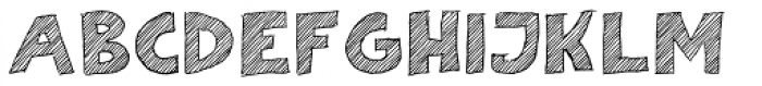 Scratch That (Striped 2) Font UPPERCASE
