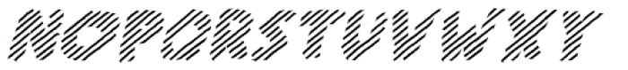 Scratch That (Striped 3) Bold Italic Font UPPERCASE