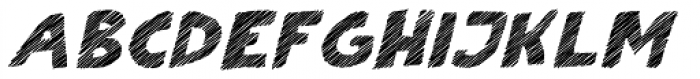 Scratch That (Striped 4) Bold Italic Font UPPERCASE