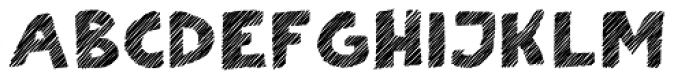Scratch That (Striped 4) Bold Font UPPERCASE