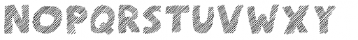 Scratch That (Striped 4) Font UPPERCASE
