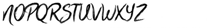 Scratched Brush Script Font UPPERCASE