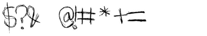 Scratchnessism Font OTHER CHARS