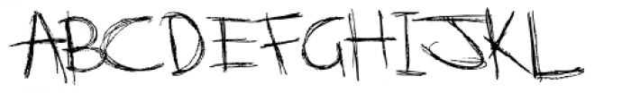 Scratchnessism Font LOWERCASE