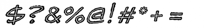 Scratchpad Italic Font OTHER CHARS