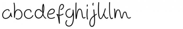 Scrawl Cursive Font LOWERCASE