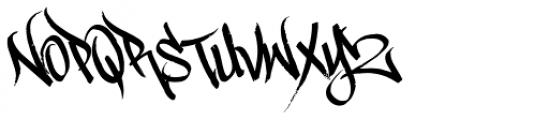 Scrawler 3rd Font LOWERCASE