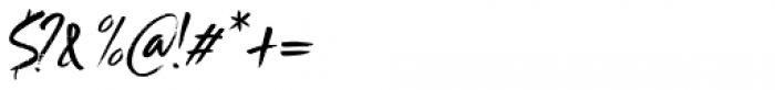 Scrawlerz Italic Font OTHER CHARS