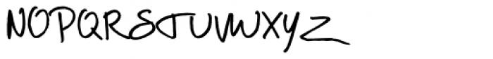 Scrawlies Font UPPERCASE