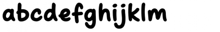 Scribbles AF Chunky Font LOWERCASE