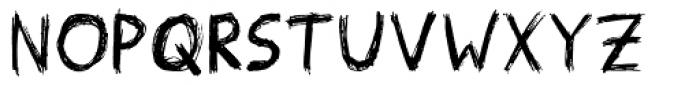 Scribblex Font UPPERCASE