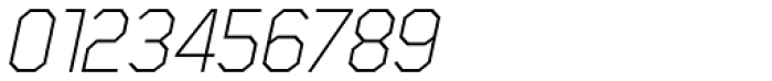 Scriber Thin Italic Font OTHER CHARS