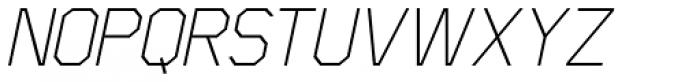 Scriber Thin Italic Font UPPERCASE