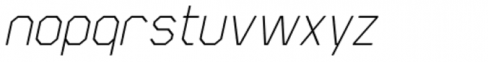 Scriber Thin Italic Font LOWERCASE