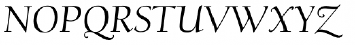 Scripps College Old Style Italic Font UPPERCASE