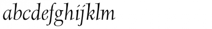 Scripps College Old Style Italic Font LOWERCASE