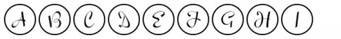 Script Spot Initials JNL Font LOWERCASE