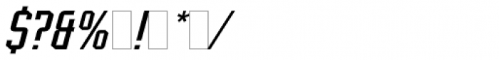 Scriptek Italic Font OTHER CHARS
