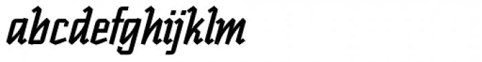 Scriptek Italic Font LOWERCASE