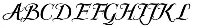 Scriptissimo Forte End Font UPPERCASE