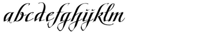 Scriptissimo Forte End Font LOWERCASE