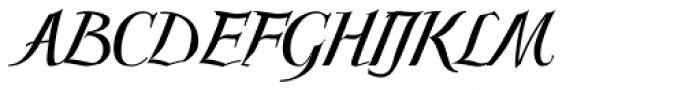 Scriptissimo Forte Middle Font UPPERCASE