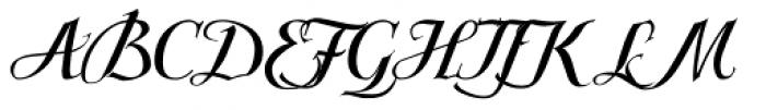 Scriptissimo Forte Start Font UPPERCASE