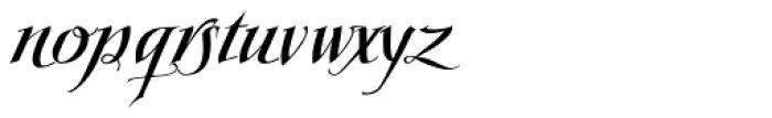 Scriptissimo Forte Swirls End Font LOWERCASE