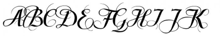 Scriptissimo Forte Swirls Start Font UPPERCASE