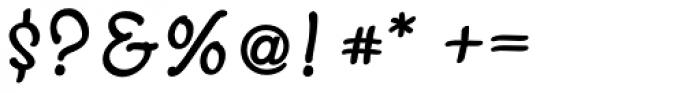 Scriptonah Pro Bold Font OTHER CHARS