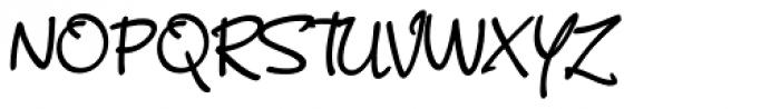 Scriptonite SemiBold Font UPPERCASE